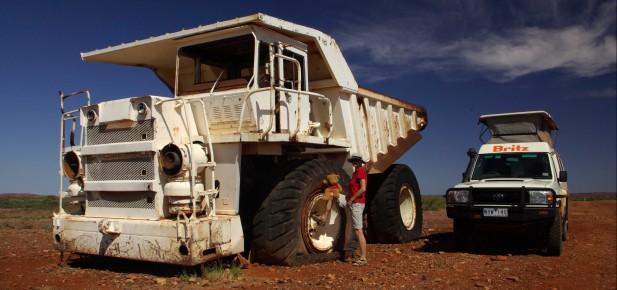 Západní Austrálie - opuštěný vrak - studium v Austrálii