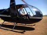 vrtulník - práce v Austrálii