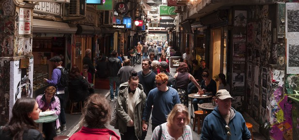 Melbourne - uličky - studium v Austrálii - Kukabara
