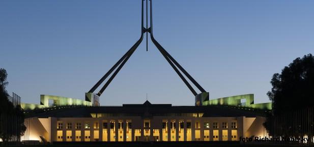 Canberra - parlament - studium v Austrálii - Kukabara