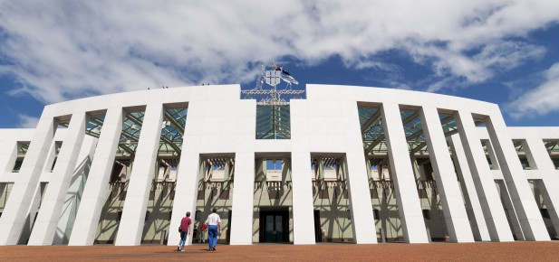 Canberra - budova parlamentu - studium v Austrálii - Kukabara