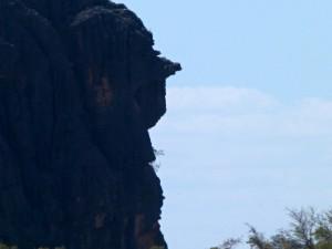 Západní Austrálie nemá královnu Viktorii v názvu, ale můžete tam narazit na její hlavu. Skalní útvar Queen Victoria´s Head, Gibb River Road