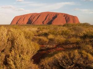Uluru - největší pískovcový monolit světa