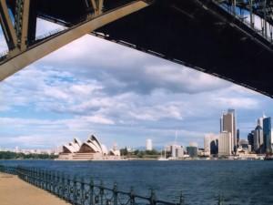 Sydney - most - Opera House - studium v Austrálii