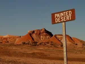 pouštní krajina okolo Coober Pedy