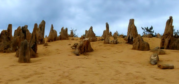 Pinnacles Desert - poušť plná věžiček