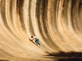 Wave Rock - pruhovaná kamenná vlna