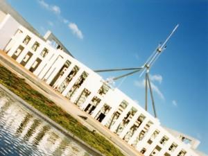Canberra - budova parlamentu