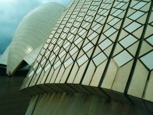 Opera House - kachlový povrch zblízka.