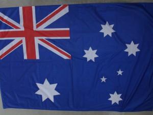 australská vlajka chyba