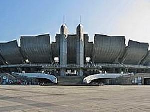 Olympijský stadion v Nagánu - tady se to všechno odehrálo.
