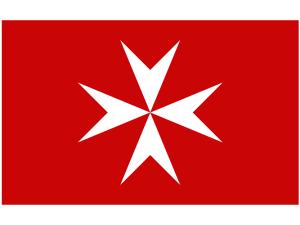 Maltézský kříž patří k symbolům Malty. Tady je na obchodní námořní vlajce a najdete ho i na některých mincích.