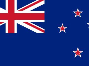 Novozélandský Kukabara kvíz pod novozélandskou vlajkou...