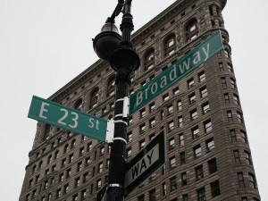 """Broadway - slavná newyorská """"muzikálová"""" ulice."""