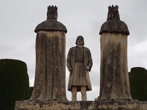 Kolumbus před oběma vládci.