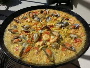 Jednou z nejčastějších ingrediencí jsou mořské plody.